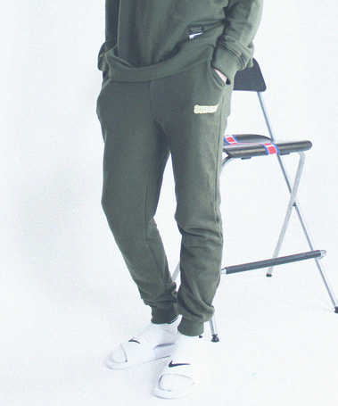 Bowling Club Sweat Pants Khaki