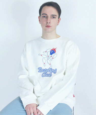 Bowling Club Crew Neck White