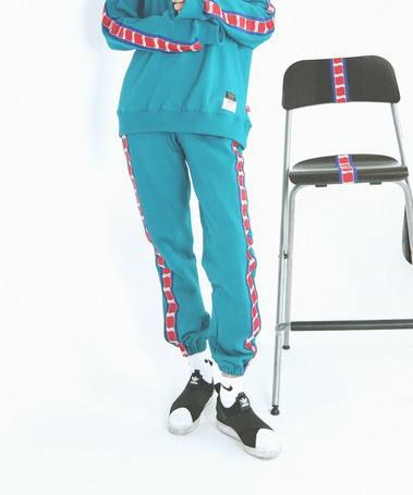 Studio tape Sweat Pants Aqua